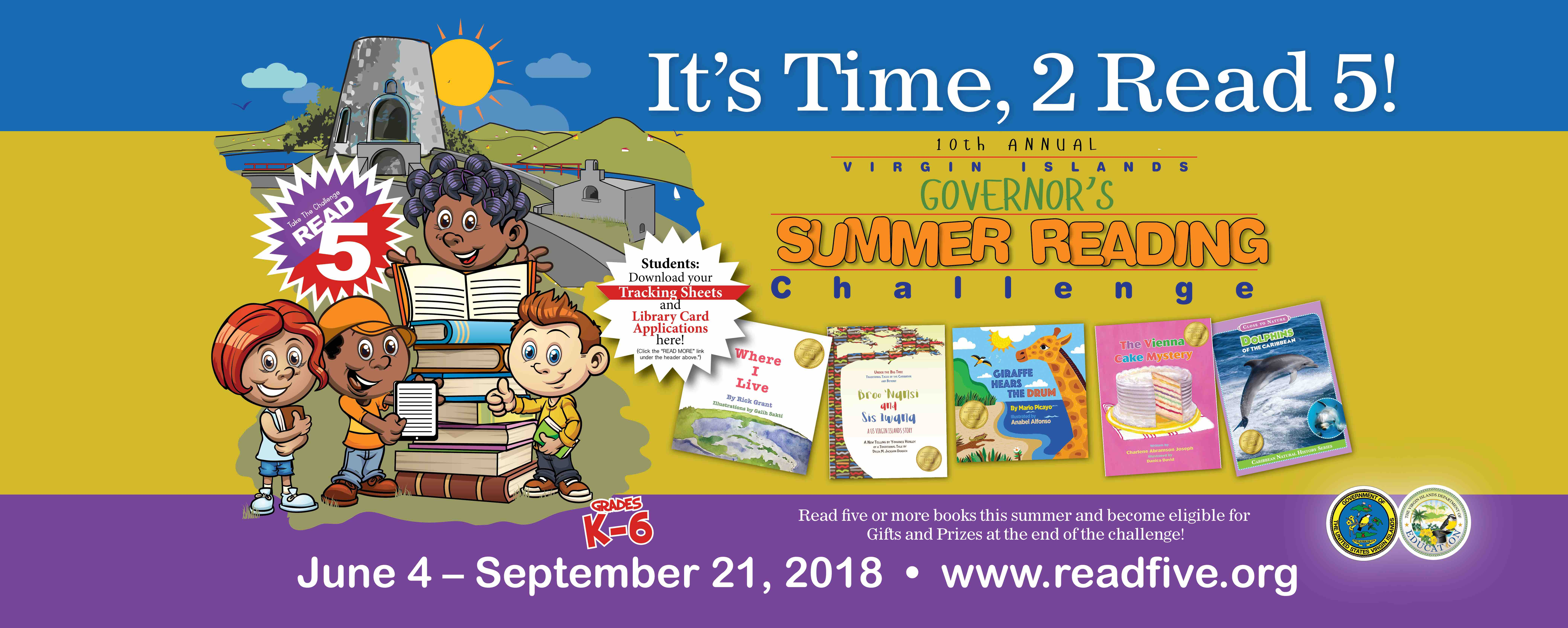 10th Annual Governor's Summer Reading Challenge