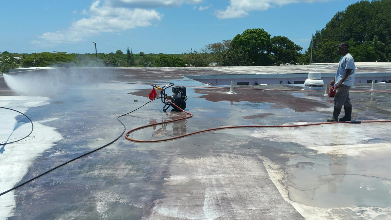 DMRP - Power Washing Roof at Alexander Henderson ES.jpg