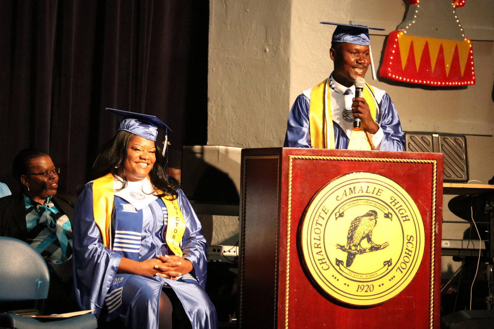 Jean Liberny, Salutatorian thanks ACE staff and teachers for their support.JPG
