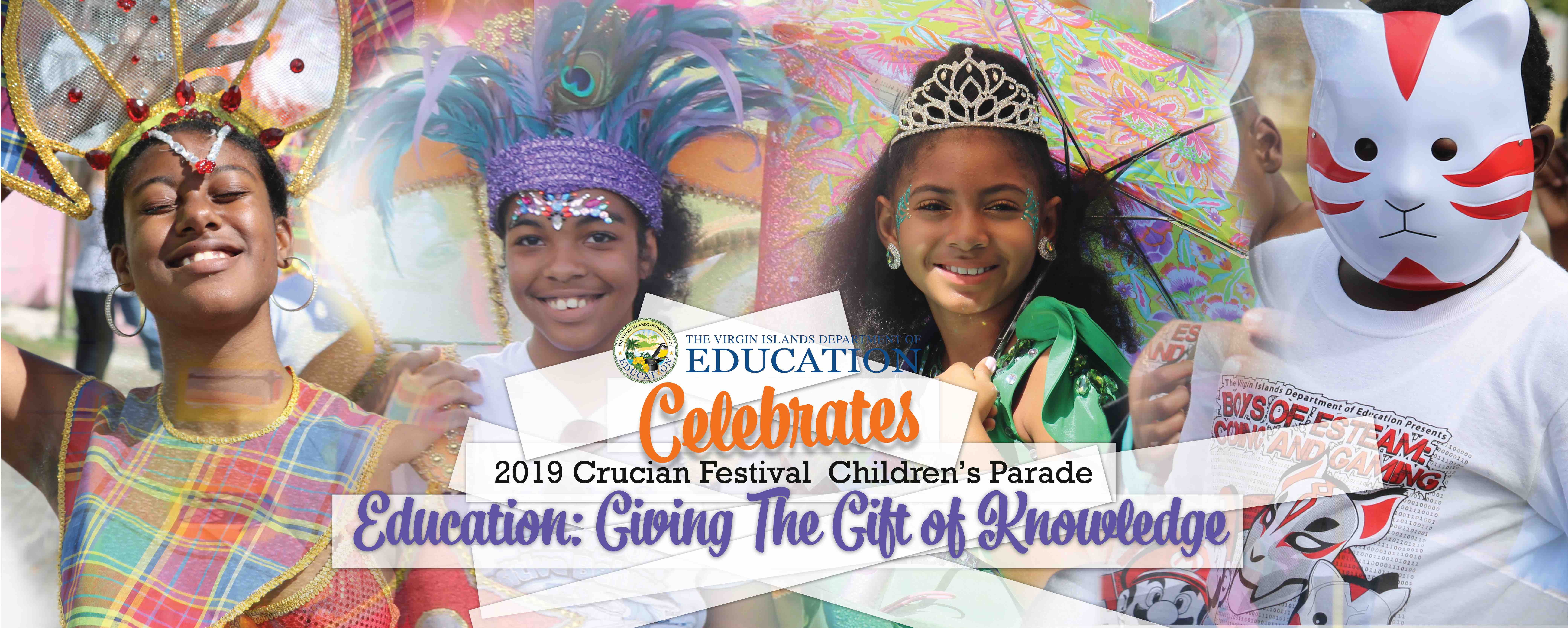 """The Gift of Knowledge"" fills 2019 St. Croix Festival Children's Parade"