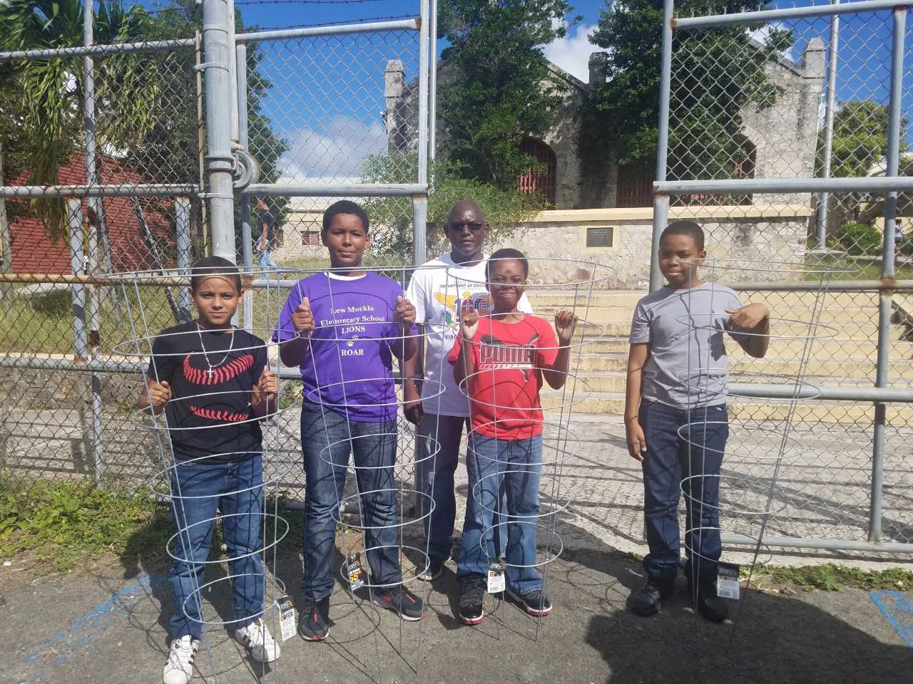 St. Croix Agriculture Program Receives Donation Of Tomato Cages