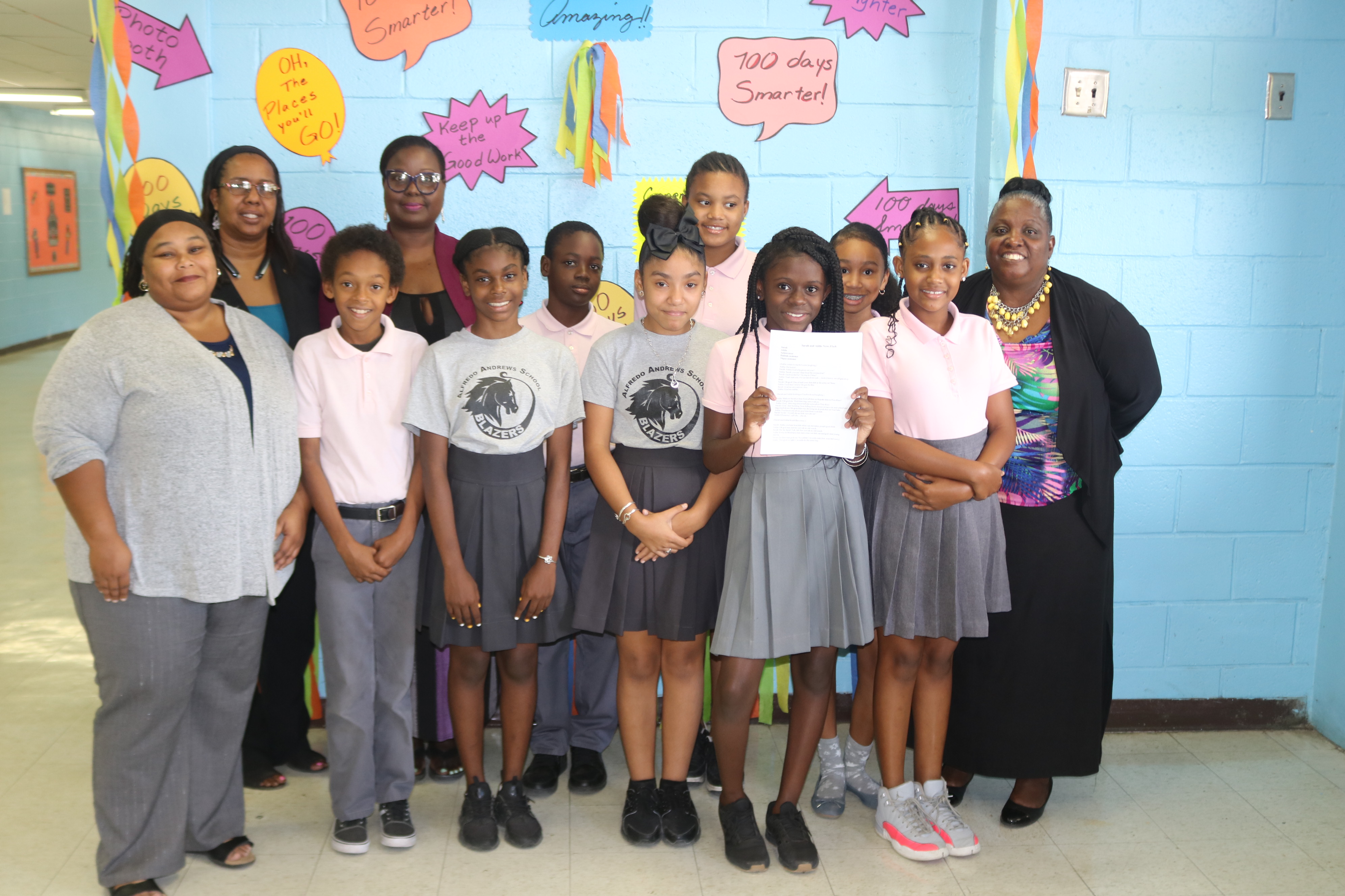 Alfredo Andrews Elementary 6th Graders Win Sarah & Addie Scriptwriting Competition