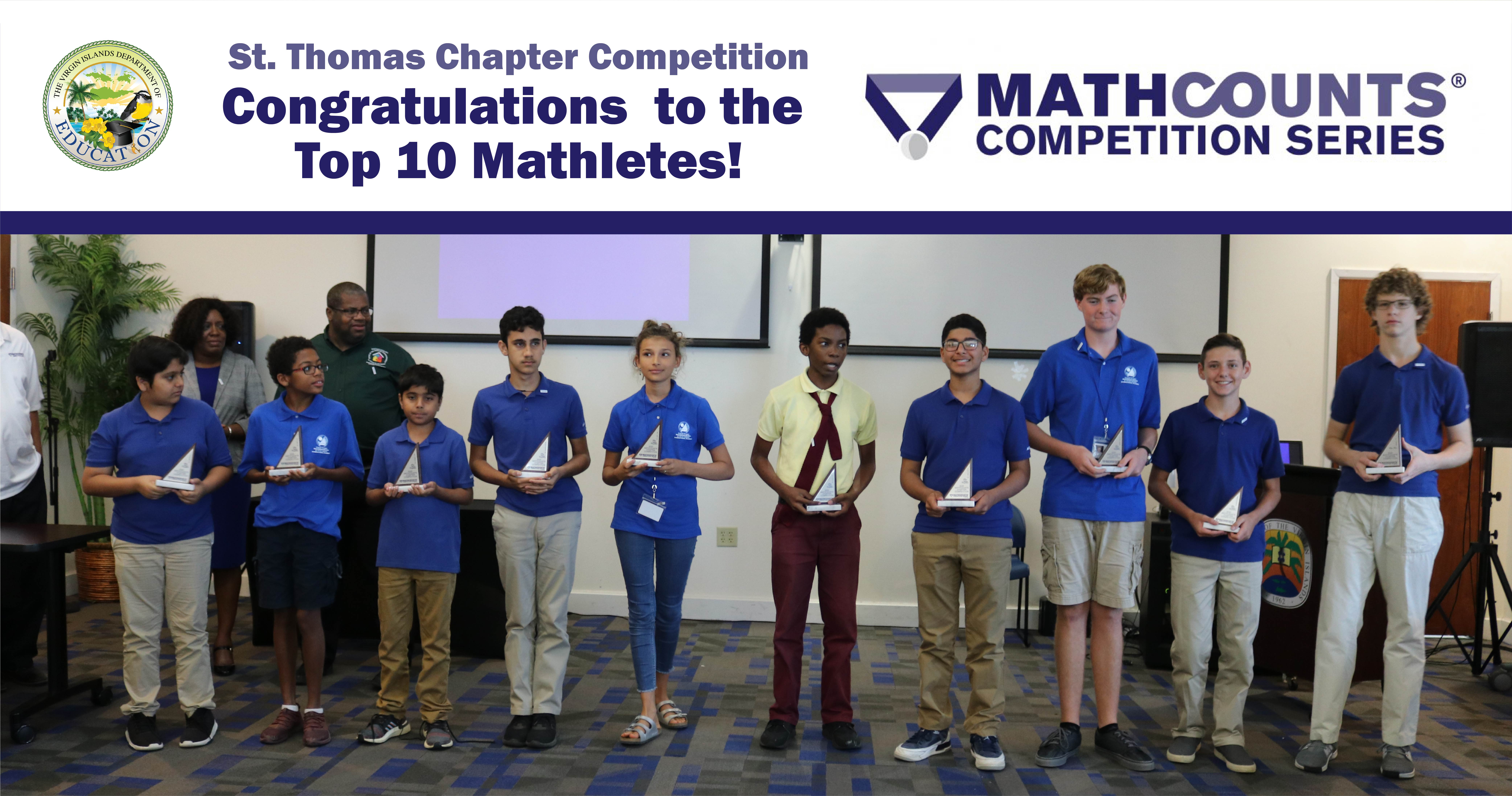 STTJ District Mathletes Advance To State MATHCOUNTS Competition