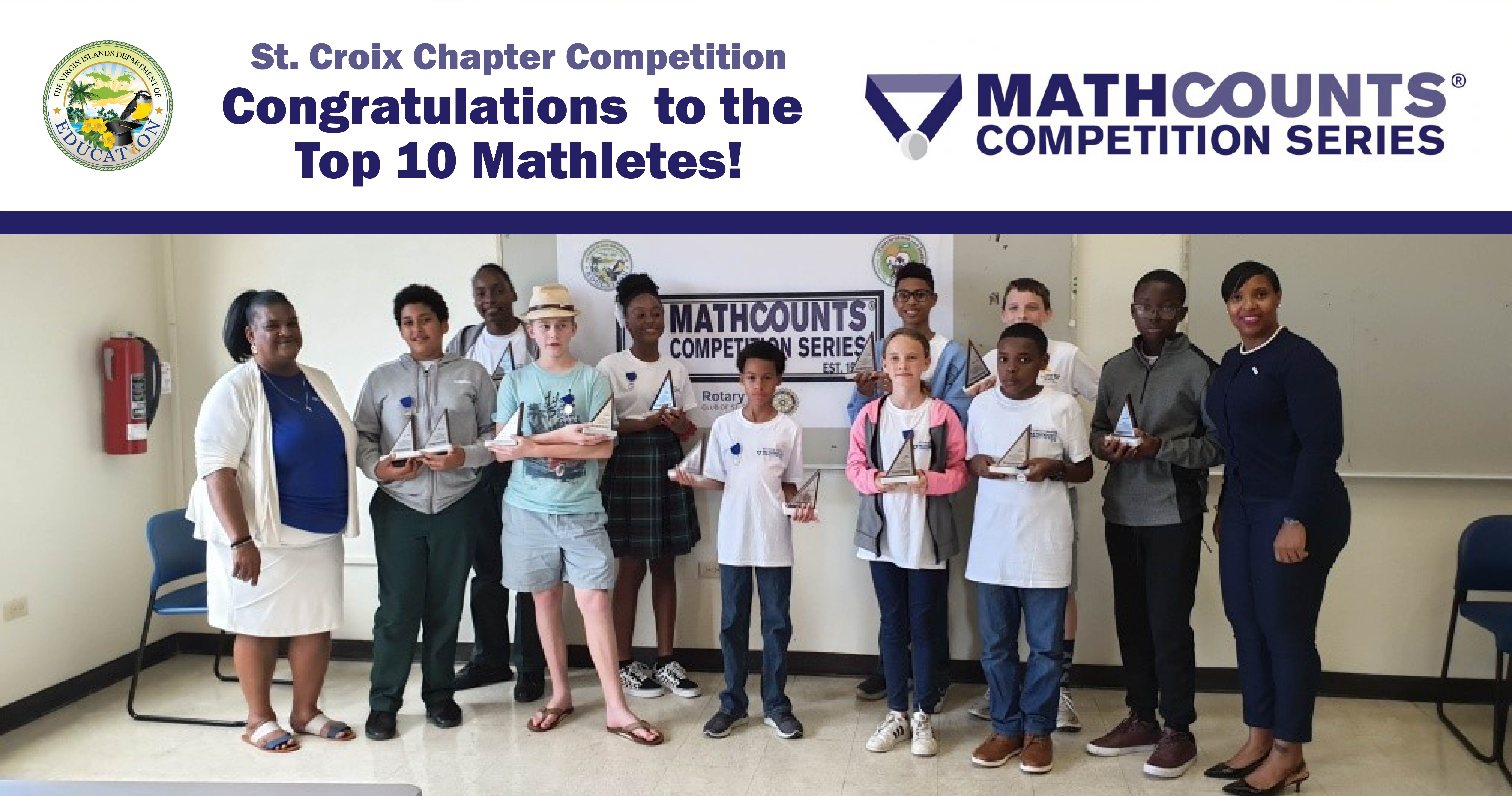 St. Croix District Mathletes Advance To State MATHCOUNTS Competition