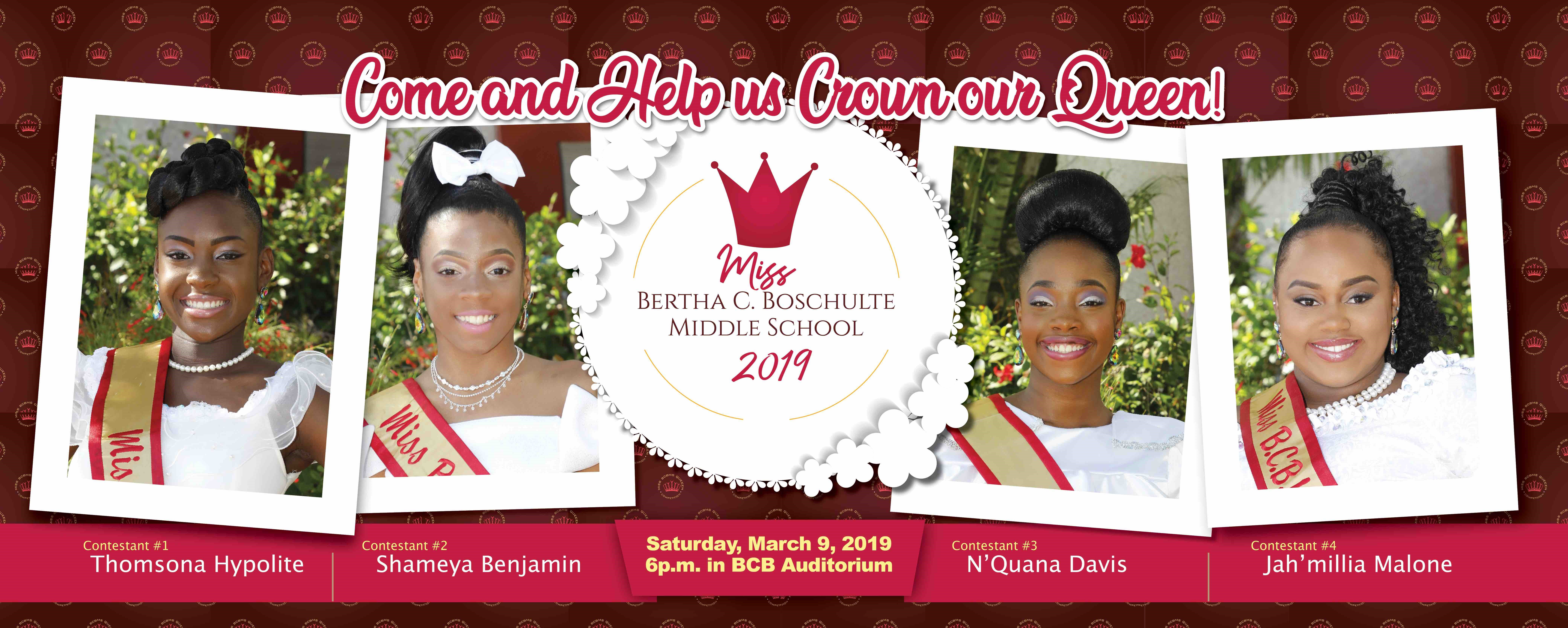 Miss BCB Pageant Slated for March 9